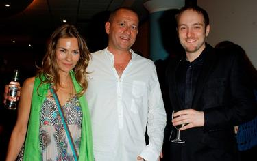 Jackie Pertwee, Sean Pertwee and Derren Brown at the UK premiere of &quot;The Descent.&quot;